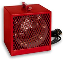 Stelpro ASCH40T Red Construction Heater - 240/208 Volts - 6 foot 12 Awg. molded cable with 3-prong grounded, 30 A 250 V plug - 4000 Watts - 240 Volts