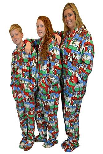 Big Feet Pajama Co. Damen Strampelanzug mehrfarbig Christmas Print