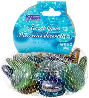 Bags Greenbrier Intl Crafters Square Aquamarine Glass Accent Gems 2-14-oz