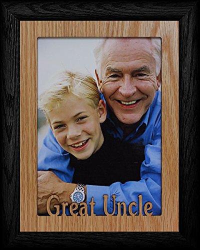 JoyceBoyce.com 5x7 Jumbo ~ Great Uncle Portrait Picture Frame ~ Laser Cut Oak Veneer Mat Frame ()