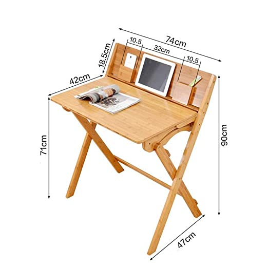 XUERUI Mesas Mesa y silla de estudio de bambú natural Escritorio ...