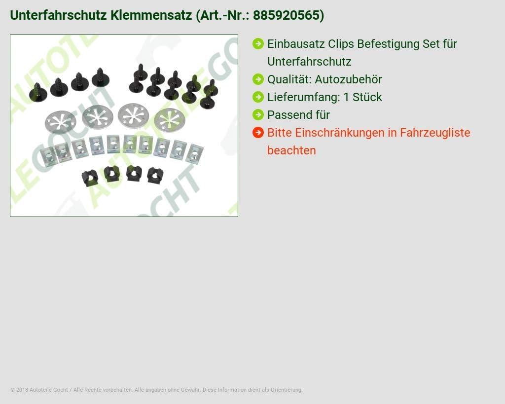 UNTERFAHRSCHUTZ KLEMMENSATZ VON AUTOTEILE GOCHT