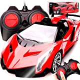 YXIAOL Children's Simulation Remote Control Car 1:16 Four-way Charging Remote Control Car Puzzle Electric Toy Car,1:16RedRetroConvertible[Built-inCharging]