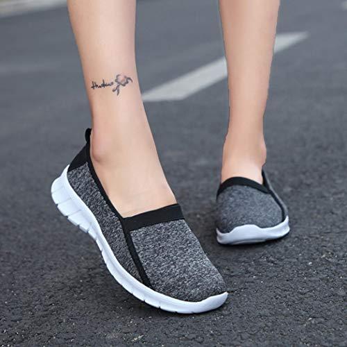 Chaussures Facile Mocassin de Antidérapant Souple BaZhaHei Respirant Noir Sport Semelle Femmes Paresseuses Porter Décontractées Chaussures à wvIAff