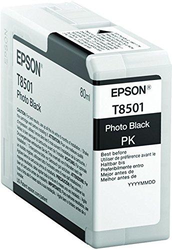 Epson T850100 T850 UltraChrome HD Photo Black Ink (Photo Black T5801)