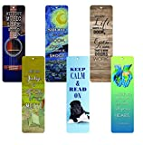 Creanoso Inspirational Bookmarks for Books (60-Pack) - Positive Wisdom Assorted Inspiring Quotes Bookmarker Cards Jane Austen - Motivational Encouragement- Best Quality Bulk Set