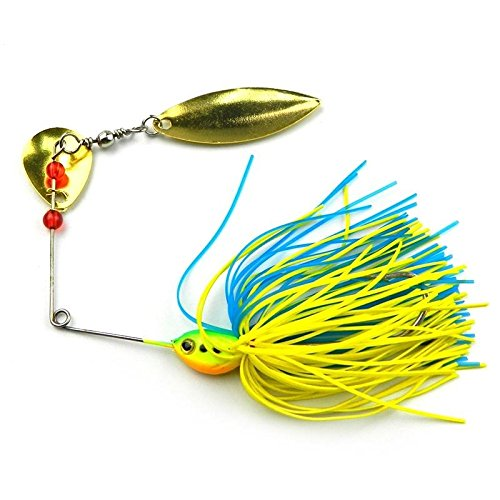Sports & Outdoor - Zanlure Fishing Lure Buzzbait Spinner Bait Rotary Lures Bait Metal Hard Lure - Bass Fishing Lures Freshwater Gear Buzz Bait Spinner Baits Spinners - For - 1PCs (Tackle Buzzbait Bait)