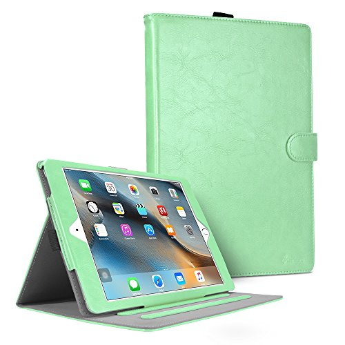 iPad Mini Case, iPad Mini 2 Case, iPad Mini 3 Case Cover, Cambond Slim Fit Auto Sleep/Wake Flip Case Cover with Card Slots and Stylus Holder, Protective Premium PU Leather - Smart Apple Ipad Mini Green Cover