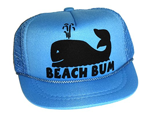 Baby Infant Newborn Whale Beach Bum Mesh Trucker Hat Cap Snapback Blue