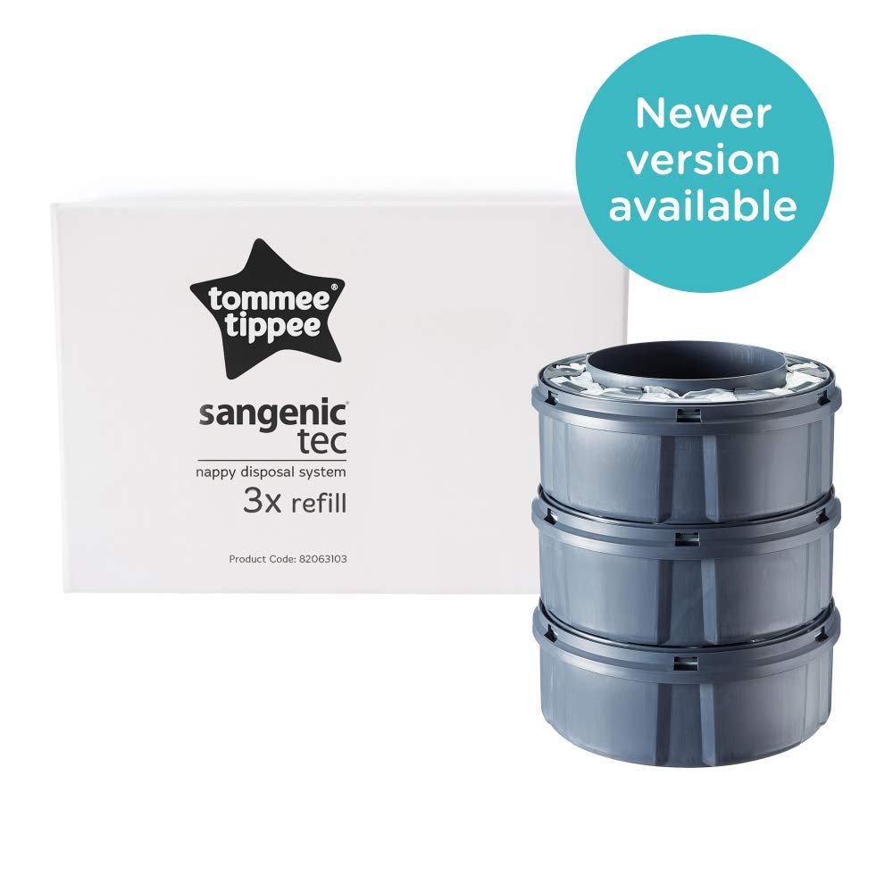 Tommee Tippee Sangenic Tec Baby Nappy Bin Refill x 3