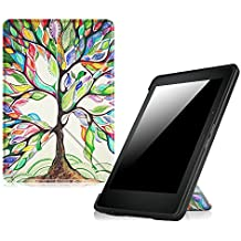 Fintie Origami Case for Kindle Voyage - The Thinnest and Lightest PU Leather Cover for Amazon Kindle Voyage (will only fit Kindle Voyage 2014), Love Tree