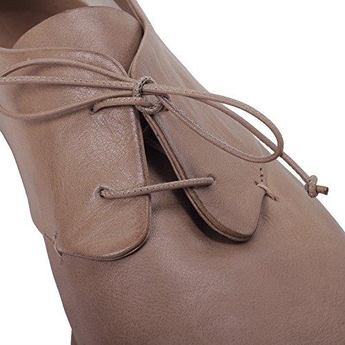 Cuir Carlo Femme À Chaussures del Lacets 10100LIMALUXSABBIA Roberto Beige qXa4Owx