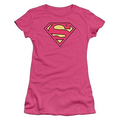 Amazon.com: Supergirl Women's Logo Juniors Tee: Novelty T Shirts ...