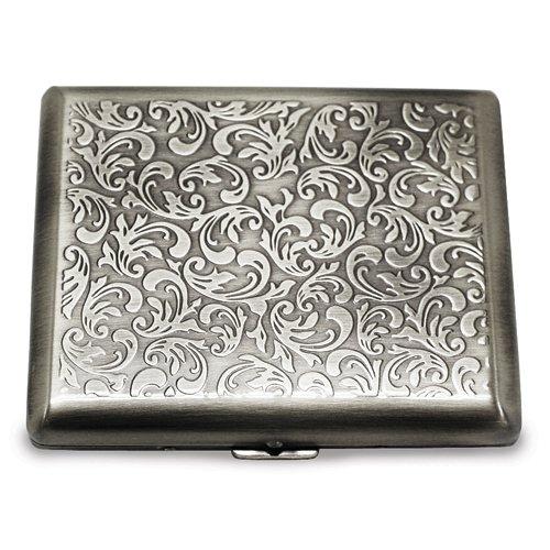 Antique Gold-tone or Silver-tone Cigarette/Card Case Antique Silver Card Case