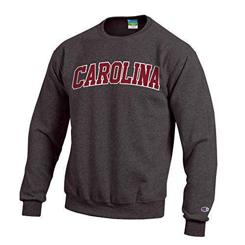 (NCAA South Carolina Gamecocks Men's Eco Powerblend Crew Neck Sweat Shirt, X-Large, Granite Heather)