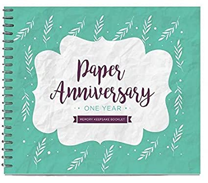 Unique 1st Wedding Anniversary Memory Book with Stickers and A Matching Card - Special Memory Journal Gift for Your Paper Anniversary - The Perfect Keepsake ...
