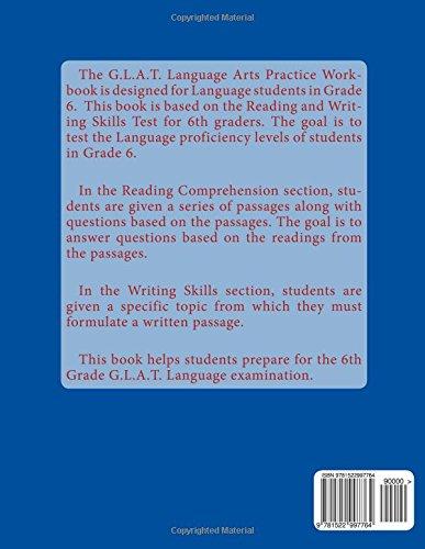 G.L.A.T. Language Arts Practice Test Workbook - Grade 6: Book 1 ...