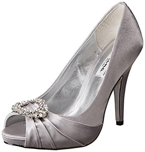 Metallic Nina Heels (Nina Women's Elvira YS Dress Pump, Royal Silver, 8.5 M US)