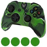 Silicone Skin Protective Cover for XBOX One Controller [Camouflage Green + Green Caps] Review
