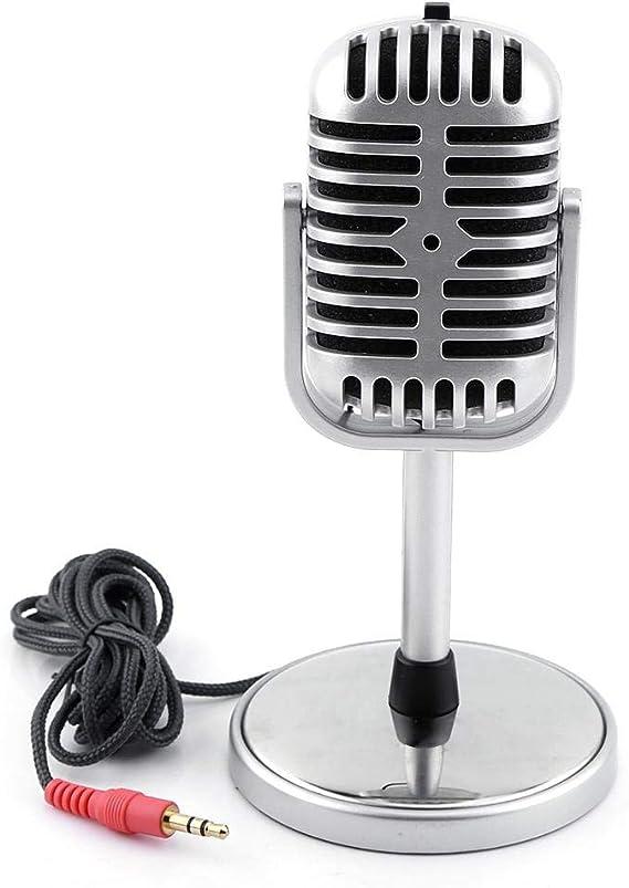 AimdonR Retro Classic 3,5 mm Telefonh/örer Mini Mic Lautsprecher Anrufempf/änger f/ür Smartphone