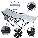 Portable Folding Camping Adventure Camp Bed Cot Hammock Sleeping Cot Steel W Bag