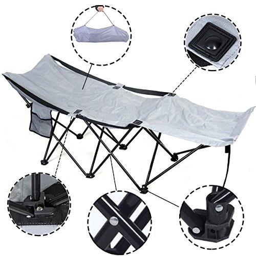 Portable Folding Camping Adventure Camp Bed Cot Hammock Sleeping Cot Steel W Bag by JDM Auto Lights
