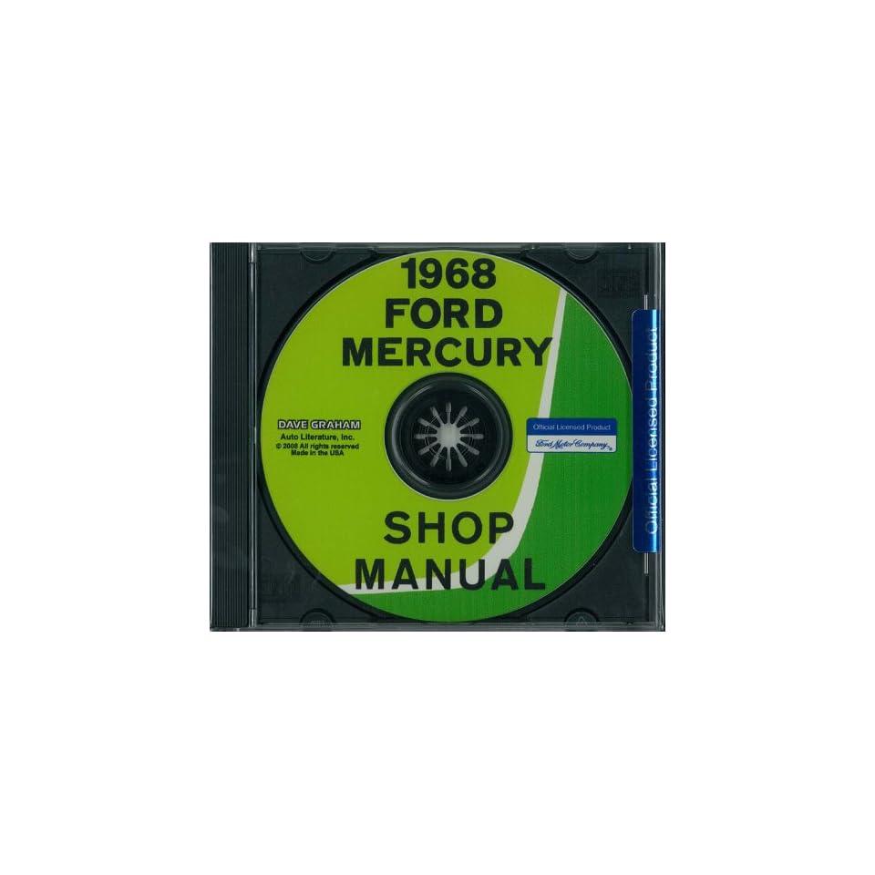 1968 FORD GALAXIE, LTD, MERCURY Shop Service Manual Book CD