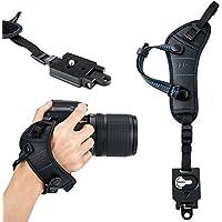 JJC Camera Hand Strap Wrist Strap w/Quick Release Plate for Canon DSLR 7DM2 7D 6DM2 6D 5DM4 5DM3 5Ds R 80D 77D 70D 60D T7i T6s T6i Nikon D850 D810 D750 D610 D7500 D5600 D5500 D3400 Sony A9 A7III A7R3