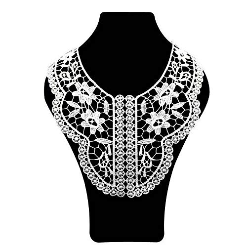 (Embroidery Neckline Applique Lace Collar Polyester Trim Collar DIY Dress Making (Size - 41))