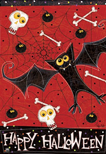 Bats and Bones Halloween Garden Flag