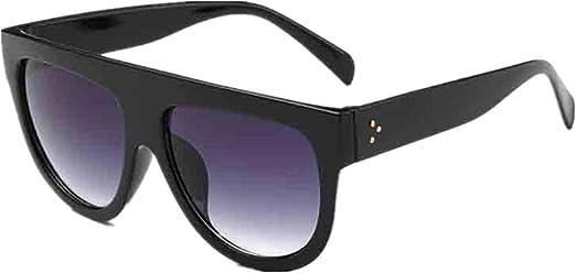 Kids Sunglasses Flat Lens Horned Rim Retro Futuristic Style Youth