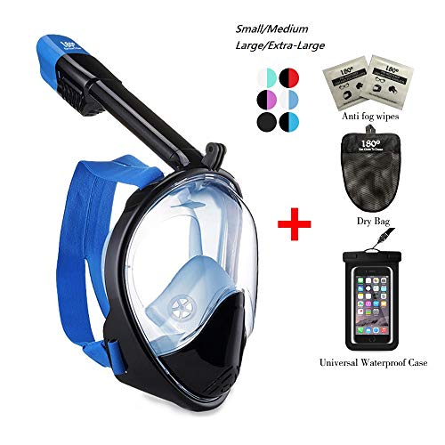 180° Snorkel Mask View for Adults and