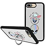 Case for iPhone 7 Plus with Kickstand and Ring Holder, Case for iPhone 8 Plus, Customized TPU Bumper Silicone Protective Cover for iPhone 7 Plus/8 Plus 5.5 inch (Alien)