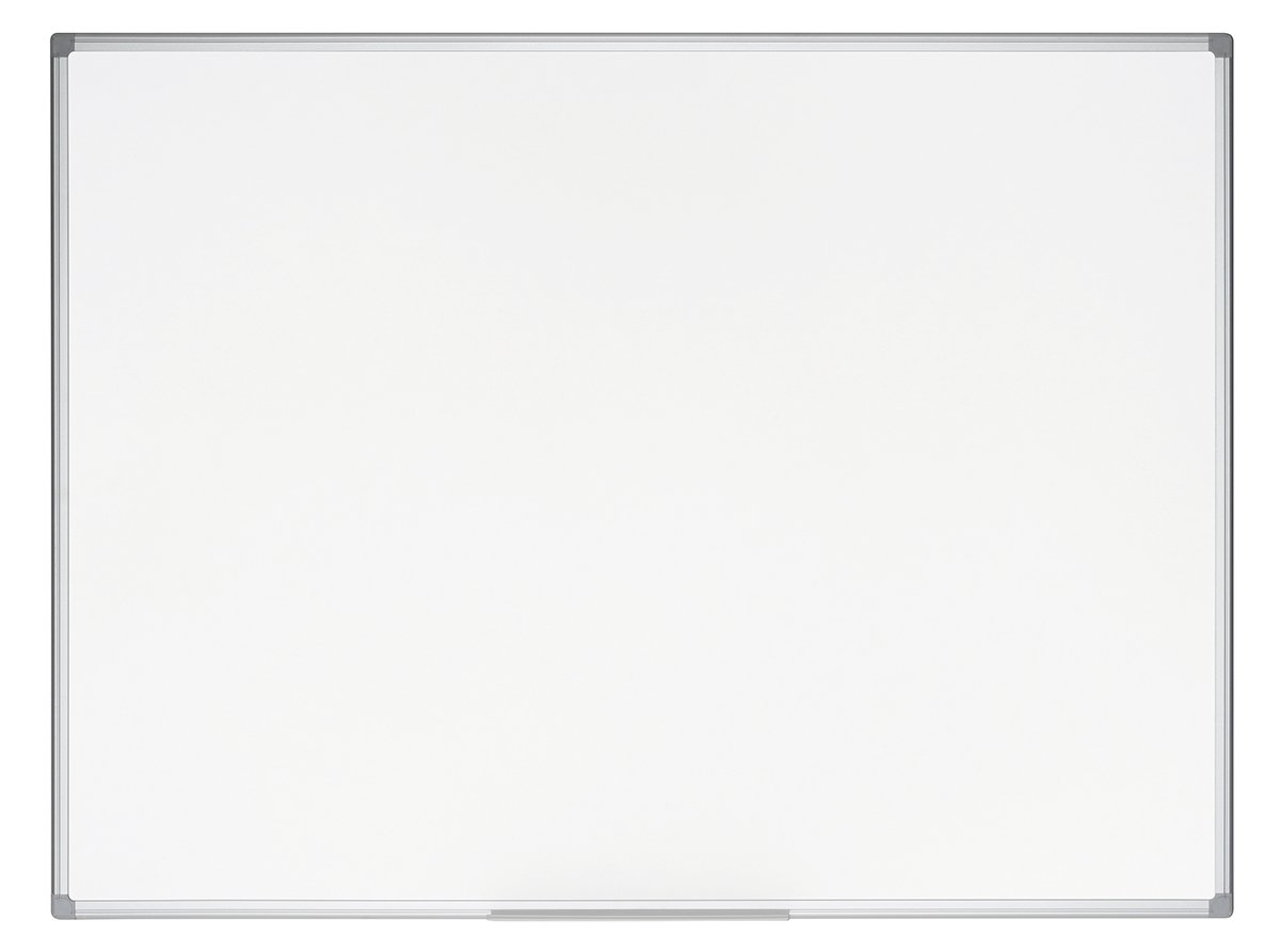 Bi-Office Lavagna Bianca Earth, Lavagna Ecologica Magnetica, Superficie In Acciaio Smaltato, Magnetica ed Cancellabile a Secco Con Cornice In Alluminio, 60 x 45 cm CR0420790