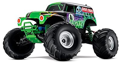 Traxxas RTR 1/10 Monster Jam Grave Digger with 7 Cell Battery and Charger by HRP (Level 3 Products)