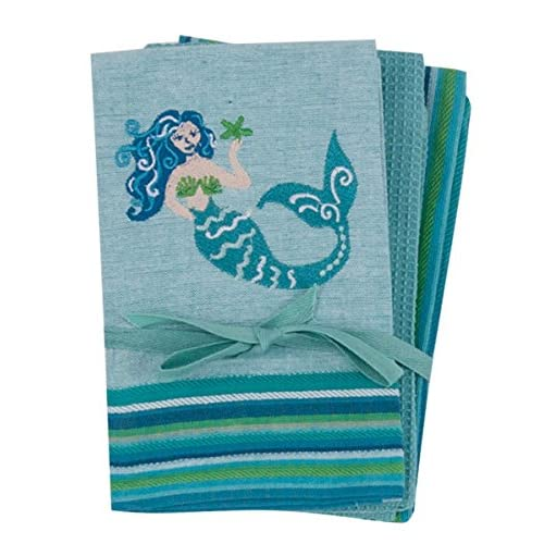 Hot Kay Dee Designs R6399 Mermaid 3Pc Kitchen Towel Set for cheap
