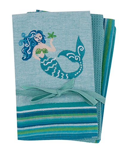 Etonnant Kay Dee Designs R6399 Mermaid 3Pc Kitchen Towel Set