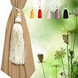 Bazaar Luxury Glass Crystal Tassels Curtain Tieback Buckle Drapery Holder Home Decor