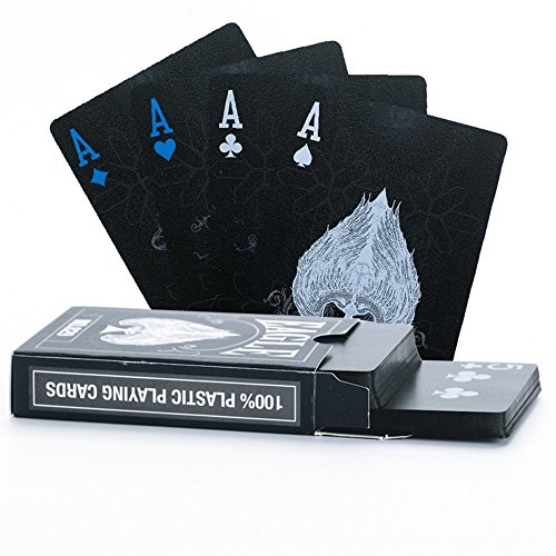 Poker Playing Cards Set - Waterproof Poker Cards Black PVC Playing Cards Set Professional Poker Poker Deck Top Quality Plastic Poker For Your Poker Pleasure (EAGLE)
