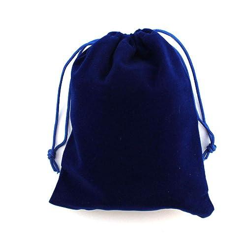 RUBY-50 Bolsas Regalo De Terciopelo para Joyas 12x15cm (Azul ...