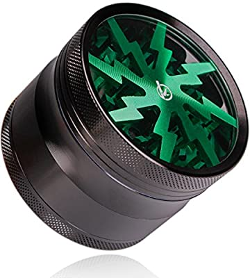BambooDaily 2.5 Inch Herb Grinder, 4 Piece Grinder for Weed with Pollen Catcher, Aircraft Grade Quality Aluminum from Banli