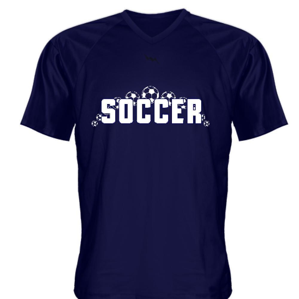 - - - LightningWear Navy bluee Soccer Jerseys V Neck 2c0a5b