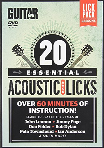 Essential Acoustic Guitar Lessons - Guitar World -- 20 Essential Acoustic Rock Licks: Learn to Play in the Styles of John Lennon, Jimmy Page, Don Felder, Bob Dylan, Pete Townshend, Ian Anderson, and Much More!, DVD