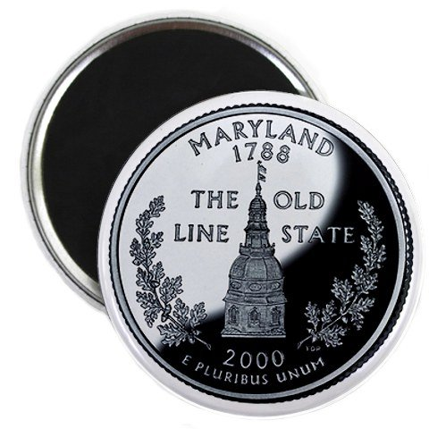 Maryland State Quarter Mint Image 2.25 inch Fridge Magnet