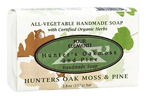 Hunters-Oakmoss-and-Pine-Soap-Four-Elements-Organic-Herbals-38-oz-Bar-Soap