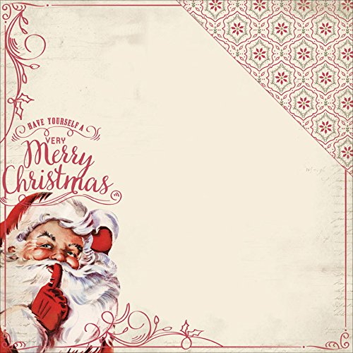 "UPC 854158019328, Christmastime Double-Sided Cardstock 12""X12""-Jolly St. Nicholas/Poinsettia Mosaic"