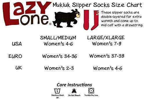 LazyOne Damen Classic Moose Red Mukluk Slippers Erwachsenen S/M