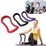 Sinwo Women Sport Yoga Ring Pilates Fitness Circle Training Resistance Support Tool (Black)