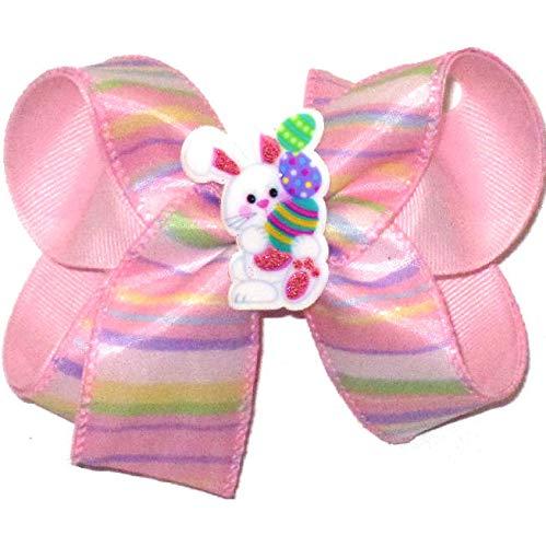 Easter Stripes Hair Bow