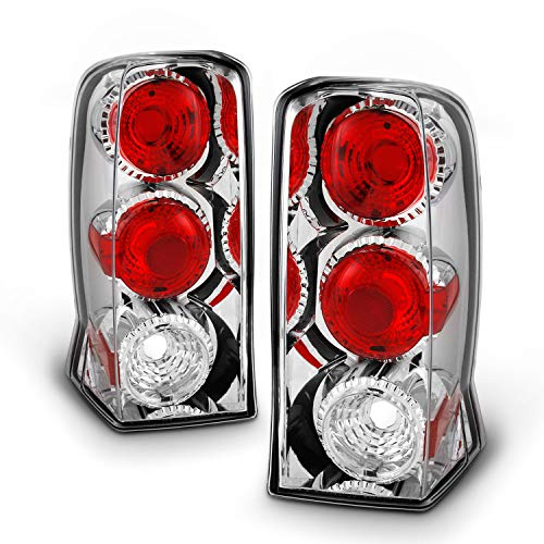 For [Altezza Style] 2002-2006 Cadillac Escalade Sport & ESV Sport Chrome Clear Tail Light Brake Lamps Pair
